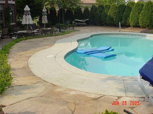 Pool Stone Walkway